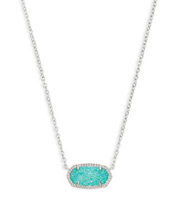 Kendra Scott Cat Eye Pendant Necklace in silver, $50
