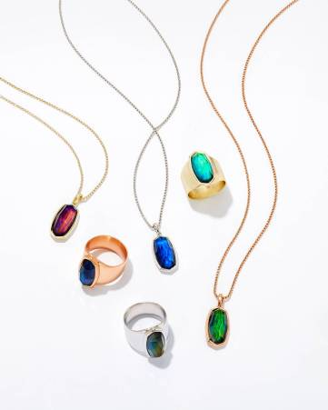 Kendra Scott Moody Mood Necklaces and Leah Mood Rings, $75 each