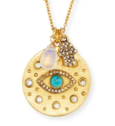 Sequin Brand Evil Eye Talisman Necklace, Neiman Marcus, $98