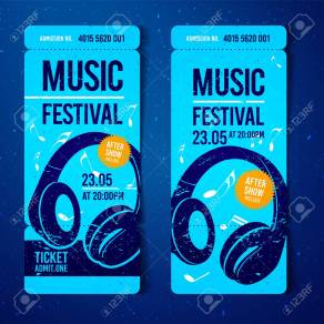 104624301-vector-music-festival-blue-ticket-design-template-with-headphones-and-grunge-effects